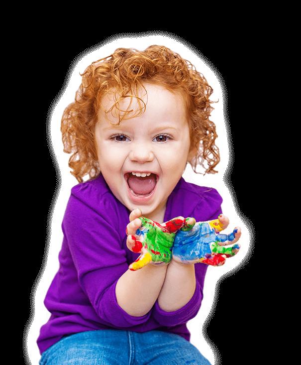 Happy child at TreeTops Nursery.