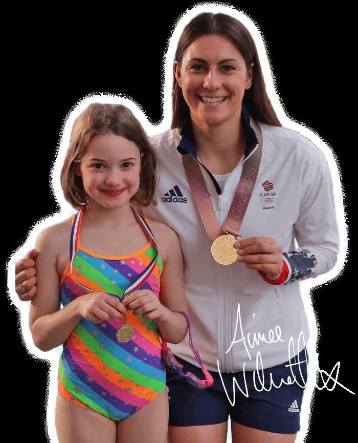 Aimee Willmott Tees Active Learn to Swim Ambassador.